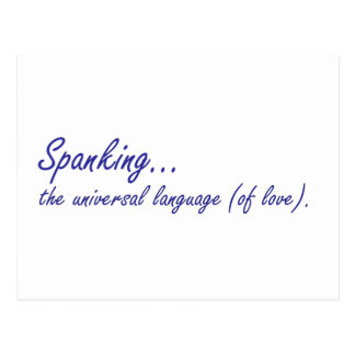 Das Verprügeln ist die universelle Sprache der Postkarte