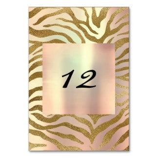 Das vertikale wilde Tischnummer-Gold erröten Karte