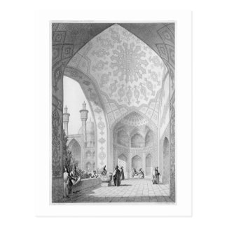 Das Vestibül des Haupteingangs des Medrese- Postkarte