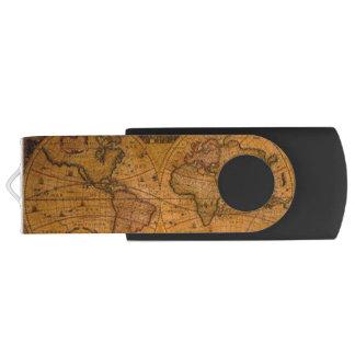Das Vintage Geschenk alte Weltkarte Swivel USB Stick 2.0