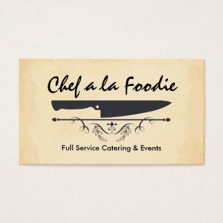 Das Vintage Messer des Art-Koch, das Visitenkarte