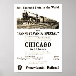 Das Vintage Pennsylvaniaspecial-Plakat Poster