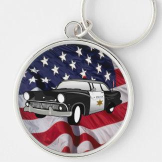 Das Vintage Polizei-Auto des USA-59 Schlüsselanhänger