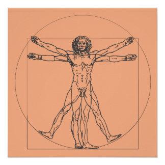 Das Vitruvian Mann-Plakat Poster