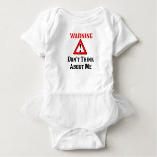 Das Warnen denken nicht an Me.png Baby Strampler