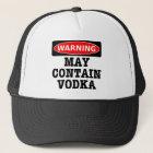 Das Warnen kann Wodka enthalten Truckerkappe