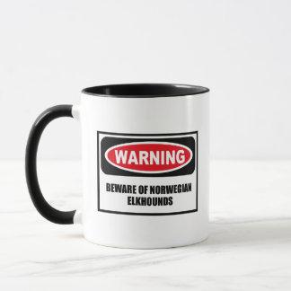 Das Warnen PASSEN VON NORWEGISCHER ELKHOUNDS Tasse