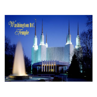 Das Washington D.C. Temple in Kensington, Maryland Postkarte