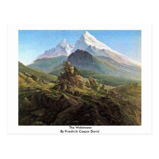 Das Watzmann durch Friedrich Caspar David Postkarte
