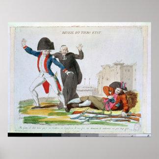 Das Wecken des dritten Anwesens, im Juli 1789 Poster