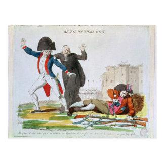Das Wecken des dritten Anwesens, im Juli 1789 Postkarte