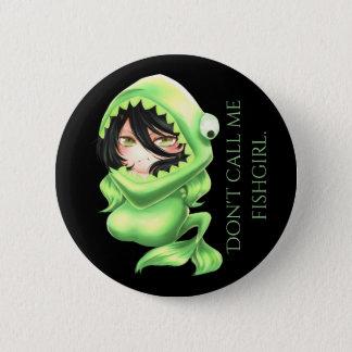 Das Wecken: Lycarillyn Fishgirl 2 1/4 im Knopf Runder Button 5,7 Cm