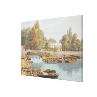 Das Wehr, von Marlow Brücke, graviert von Robert H Gespannte Galeriedrucke
