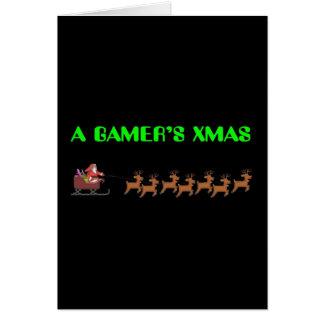 Das Weihnachten eines Gamers Grußkarte