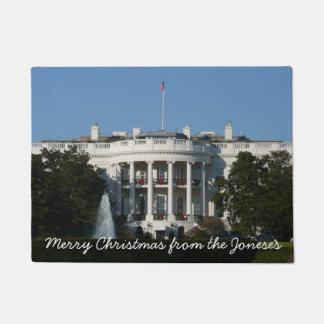 Das Weihnachts Weiße Haus für Feiertags-Washington Türmatte