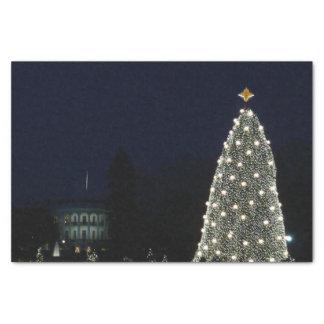 Das Weihnachts Weiße Haus im Washington DC Seidenpapier