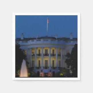 Das Weihnachts Weiße Haus nachts im Washington DC Papierserviette