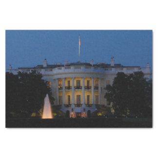 Das Weihnachts Weiße Haus nachts im Washington DC Seidenpapier
