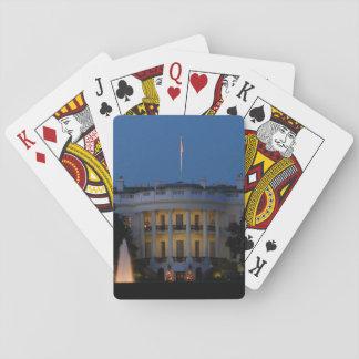 Das Weihnachts Weiße Haus nachts im Washington DC Spielkarten