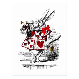 Das weiße Kaninchen Postkarte