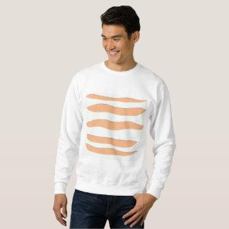 Das weiße Sweatshirt der Männer mit Tiger-Streifen
