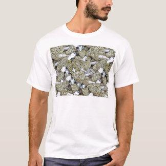 Das weiße T-Stück der Morchel-Pilz-Männer T-Shirt