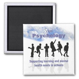 Das Wesentliche des Schulpsychologie-Magneten Quadratischer Magnet