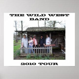 Das wilde Westband-Plakat Poster