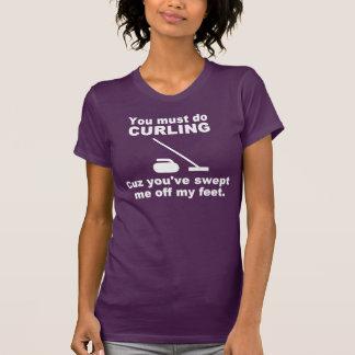 Das Winden heben Linie auf T-Shirt