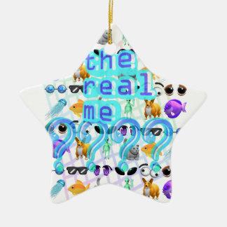 Das wirkliche ich keramik Stern-Ornament