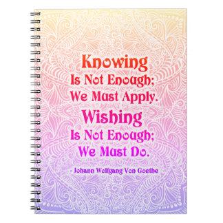 Das Wissen ist nicht genug - positives Quote´s Notizblock