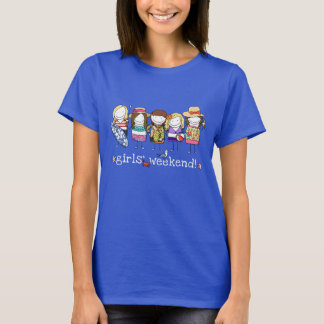 Das Wochenenden-Shirt des Mädchens T-Shirt