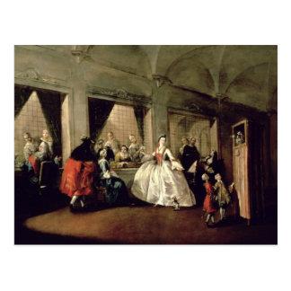 Das Wohnzimmer des Klosters Sans Zaccaria (Öl auf Postkarte