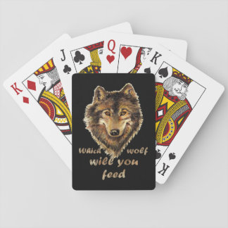 """""""Das Wolf Sie"""" Inspirational Wolf-Kunst füttert Spielkarten"""