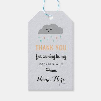 Das Wolken-Babyparty-Schlafen besprühen Geschlecht Geschenkanhänger
