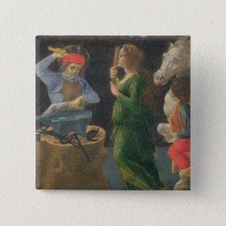 Das Wunder von St. Eligius, Predellaplatte vom Th Quadratischer Button 5,1 Cm