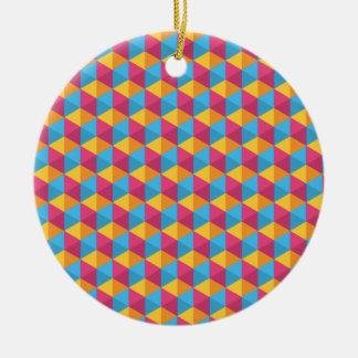Das Würfel-Muster I Keramik Ornament