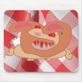 Das wütende Kaninchen, in der Farbe Mousepad