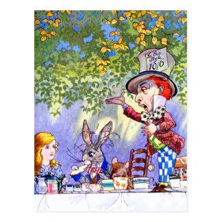 Das wütenden der Tee-Party des Hutmachers in der Postkarte