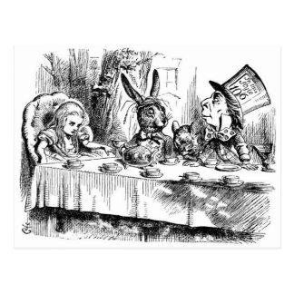 Das wütenden der Tee-Party des Hutmachers Postkarte