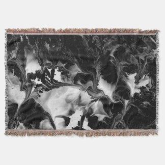 DAS YIN u. DER YANG (schwarze u. weiße abstrakte Decke