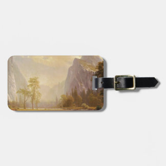Das yosemite-Tal oben schauen - Albert Bierstadt Gepäckanhänger