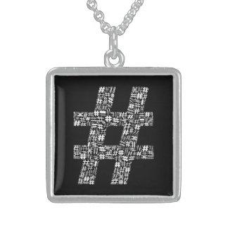 Das Zahl-Zeichen Sterling Silberkette