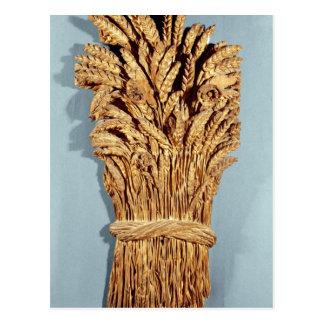 Das Zeichen des Bäckers mit den Ohren des Weizens Postkarte