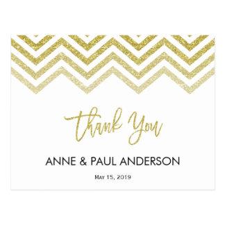 Das Zickzack Gold und das Weiß dankt Ihnen zu Postkarte