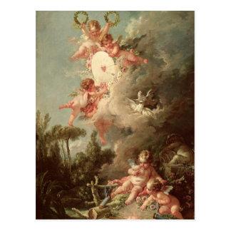 Das Ziel des Amors, von 'Les Liebes-DES Dieux Postkarte