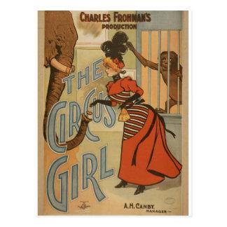 "Das Zirkus-Mädchen, ""A.H.Canby"" Vintages Theater Postkarten"