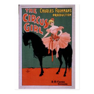 Das Zirkus-Mädchen-Vintage Theater Postkarten