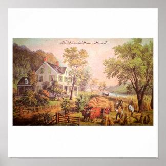Das Zuhause-Ernte-Plakat des Bauern Poster