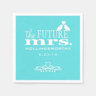 Das zukünftige Brautparty Frau-Aqua Blue Papierserviette